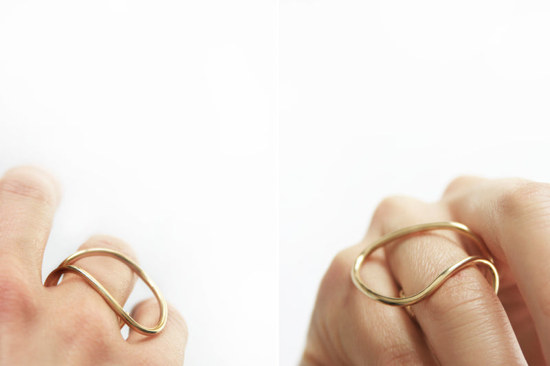 18 carat gold wire ring-McCaul