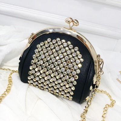 Fashion Metallic Rivet Cross-Body Purse