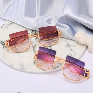 Women Fashion Oversize Square Frame Sunglasses
