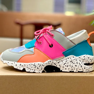 Women Colorful Fashion Low Top Sneakers Shoes