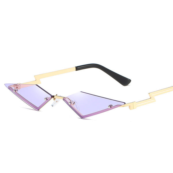 Women Color Mirror Lens Cat Eye Fashion Sunglasses