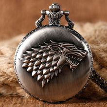 "Load image into Gallery viewer, Unique Antique ""Stark Family Crest"" Pocket Watch"