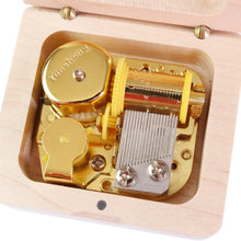 Load image into Gallery viewer, Handmade Natural Wood Music Box
