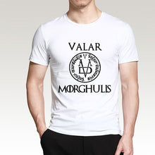 "Load image into Gallery viewer, 2019 Summer T-shirt Men"" Valar Morgulis"" 100% Cotton"