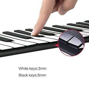 [37% OFF NOW!!] Portable Roll-Up Flexible Electronic Piano with Full Soft Responsive Keys Built-in Speaker