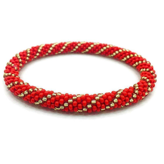 Nepal Bracelet: Red and Gold