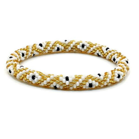 Nepal Bracelet: Spotted Gold and White
