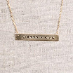 Strong + Kind Bar Necklace