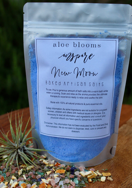 New Moon Baked Bath Salts