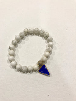 Howlite with Sapphire Charm Bracelet