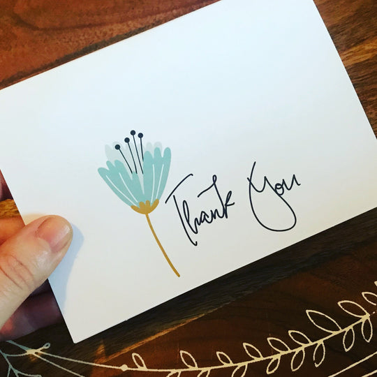 Thank You Card / Flower Card // blank Cards
