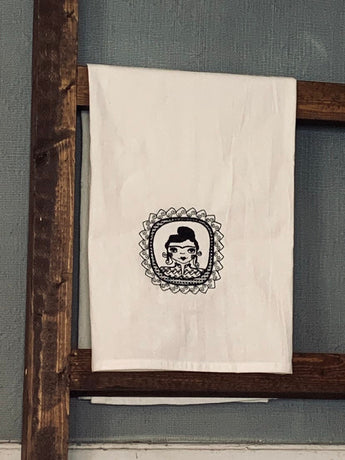 Frida Kahlo embrodiered Tea Towel