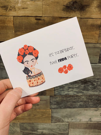 Frida Kahlo// blank cards// Greeting Cards / Birthday Card