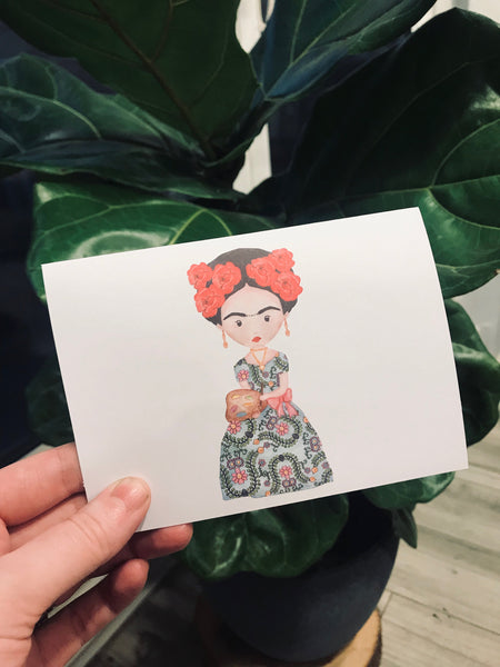Frida Kahlo// blank cards// Greeting Cards / Frida Card