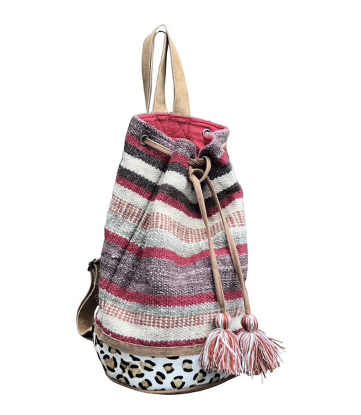 Autumn and Stripes Bucket Tote (Backpack)
