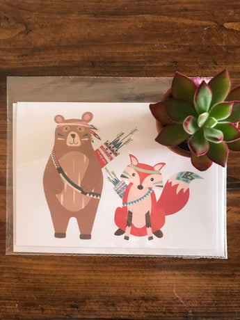 Bear fox card