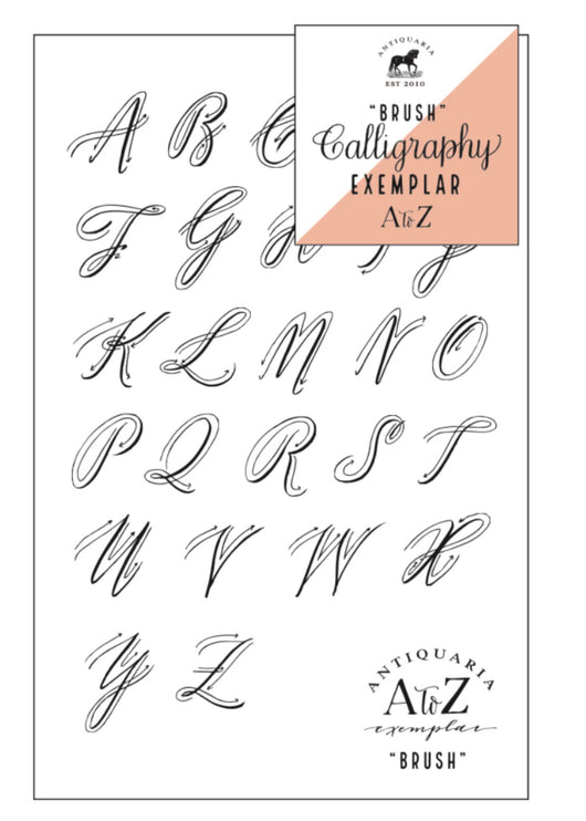 Brush Calligraphy Exemplar