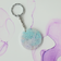 Pastel Butterfly Round Keyring