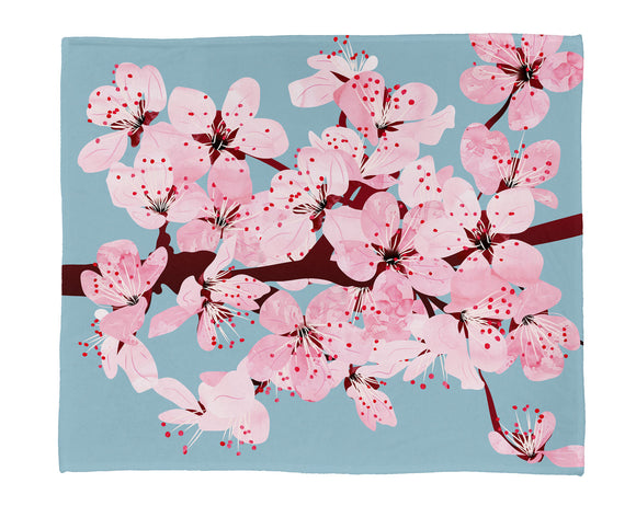 "Cherry Blossoms Plush Throw (50"" x 60"")"