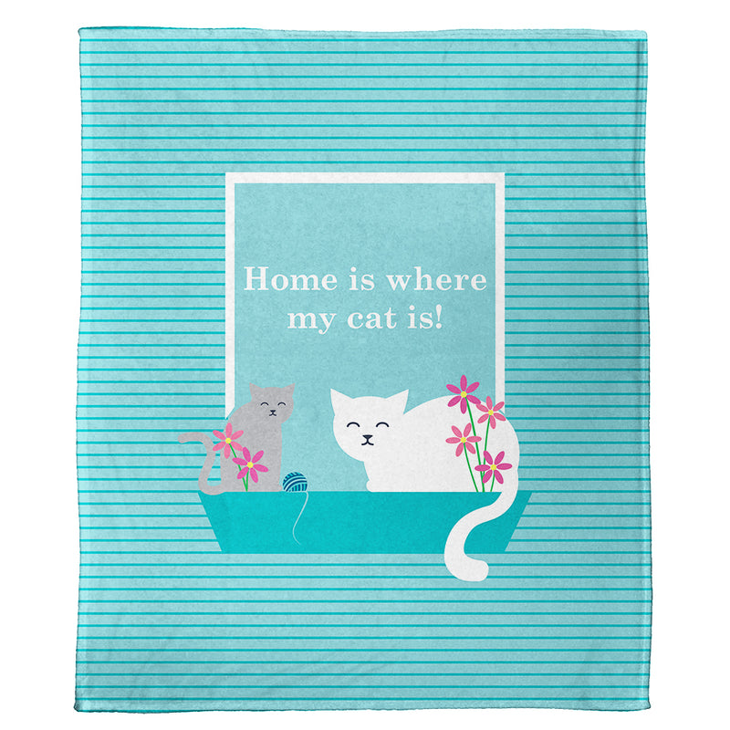 "Cats and Kittens Plush Throws (50"" x 60"")"