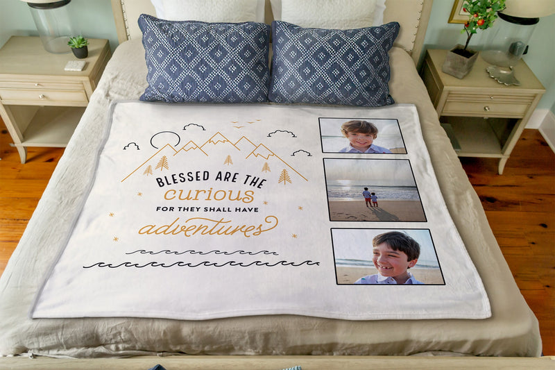 Adventure Themed Custom Photo Blanket Collaboration from Just Add Confetti