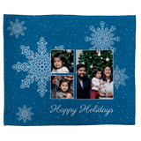 Holidays and Snowflakes Personalized Throw