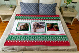 Sweaters, Sleighs, and Reindeer: Personalized Throw
