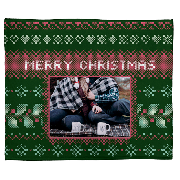 A Needlepoint Christmas: Personalized Throw Blanket