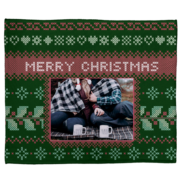 A Needlepoint Christmas: Personalized Throw