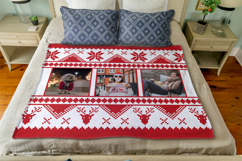 The Red Christmas Sweater: Personalized Throw