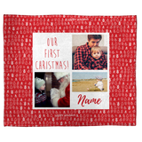 Our First Christmas: A Personalized Throw