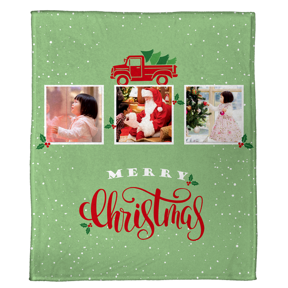 Farmhouse Christmas Trees: A Personalized Throw