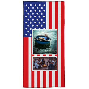 "The American Flag; Medium Beach Towel (28"" x 58"")"