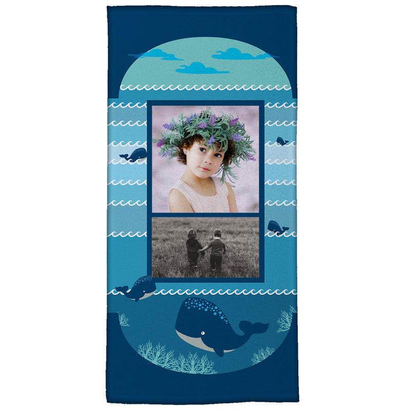 "Whale, Hello There!  Medium Beach Towel (28"" x 58"")"