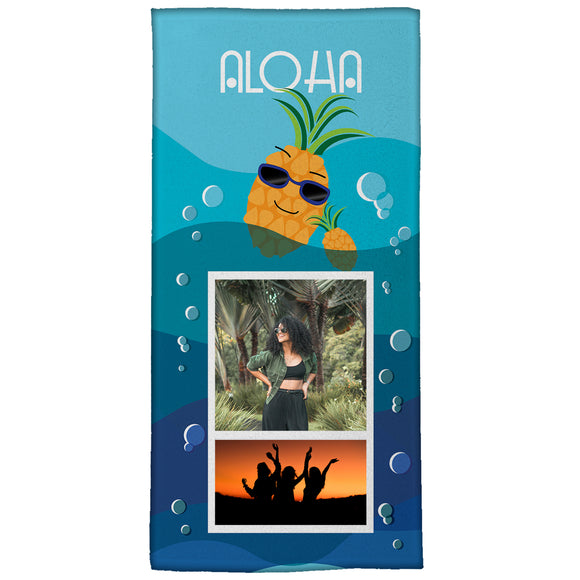 "Aloha!  Medium Beach Towel (28"" x 58"")"