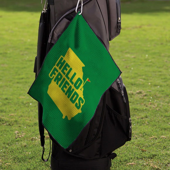 "Hello Friends: Microfiber Waffle Small Golf Towel (15"" x 18"")"