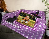 Personalized Halloween Photo Throw Blanket - Baby's First Halloween!