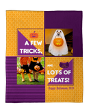 Personalized Halloween Photo Throw Blankets - Trick or Treat!