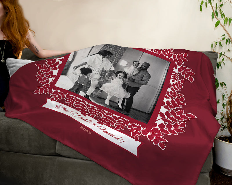 Personalized Holiday Plush Throw
