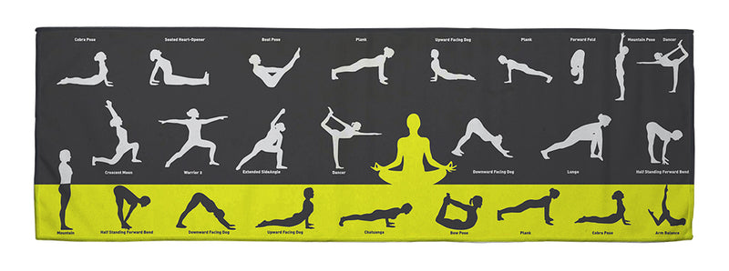 "Yoga Flows - Yoga Cooling Towel (34"" x 11"")"