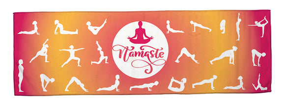 Namaste Sunset - Yoga Cooling Towel (34