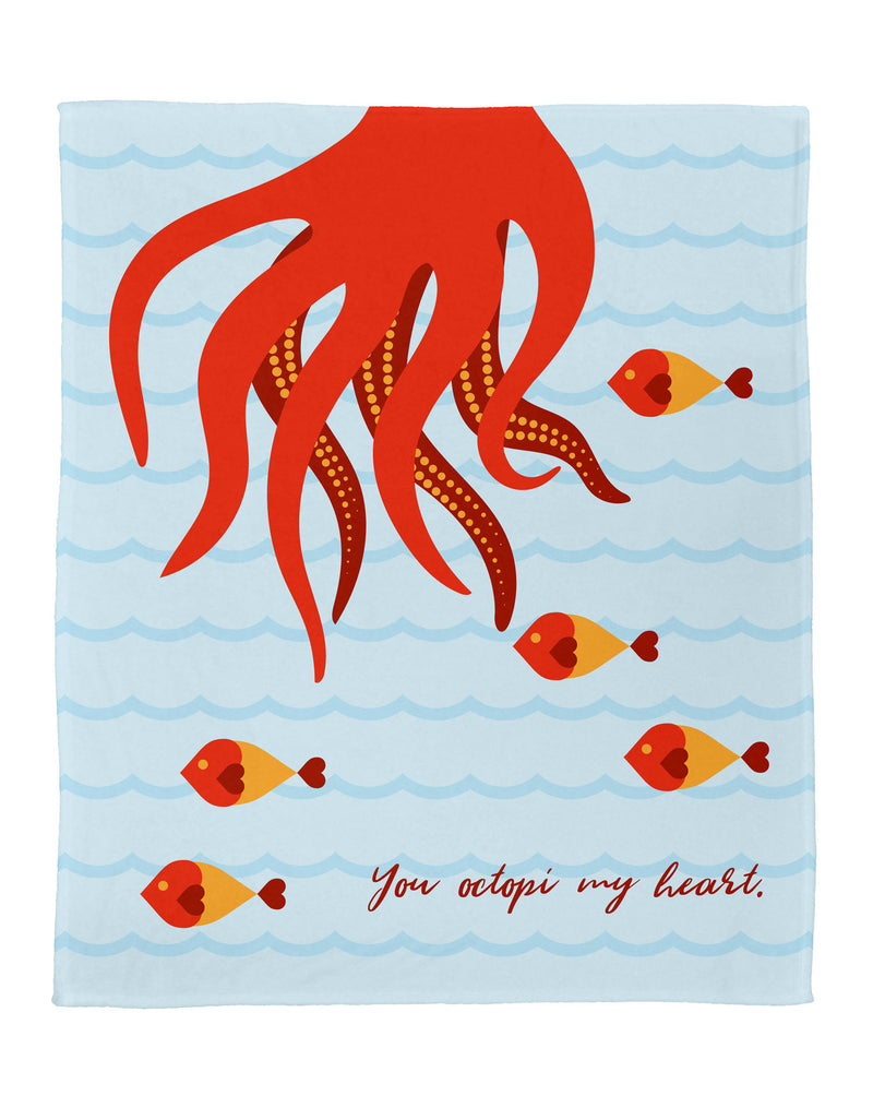 "You Octopi My Heart Plush Throw (60"" x 50"")"