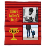 "Award Winning Father Plush Throw (50"" x 60"")"