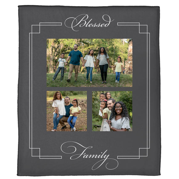 "Blessed Family Plush Throw (50"" x 60"")"