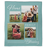"Home, Family, Blessing Plush Throw (50"" x 60"")"