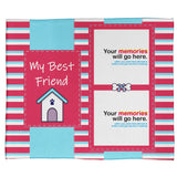 "My Best Friend: A Pet Plush Throw in Pink (60"" x 50"")"