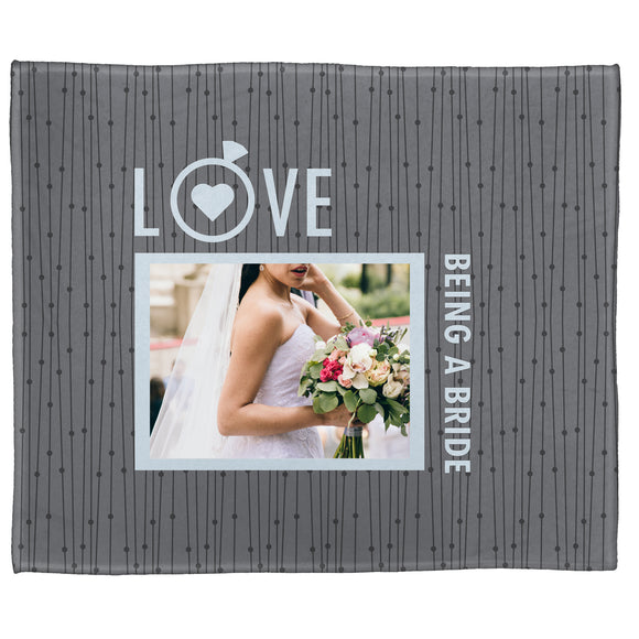 "Love Being a Bride Plush Throw (50"" x 60"")"