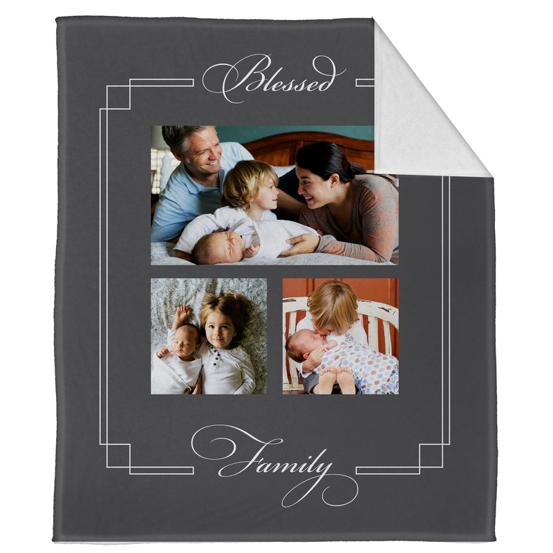 "Blessed Family Plush Throw (60"" x 50"")"