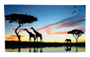 "Safari at Sunset Large Beach Towel (35"" x 60"")"