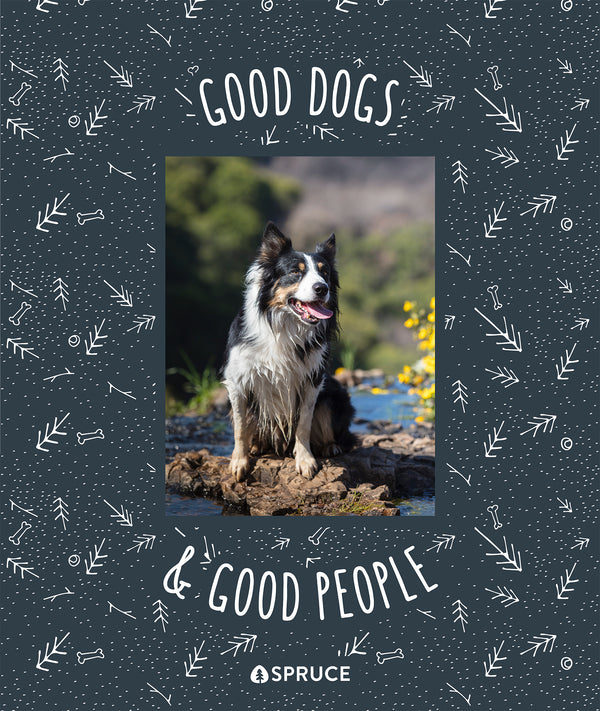 Good Dogs and Good People Blanket - A Pet Collaboration with Spruce Pup